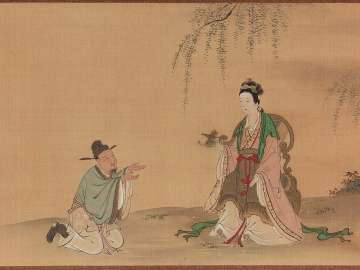 Yang Guifei Giving her Hair Ornaments to a Messenger
