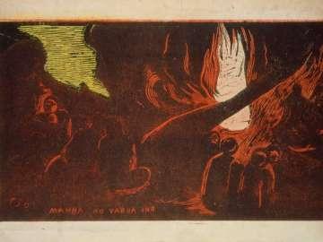 Le Pêcheur buvant auprès de sa Pirogue (A Fisherman Drinking Beside His Canoe); verso: Mahna No Varua Ino (The Devil Speaks)