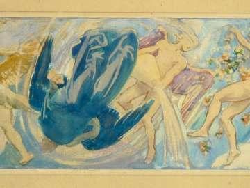 Museum of Fine Arts Mural Study: The Winds II