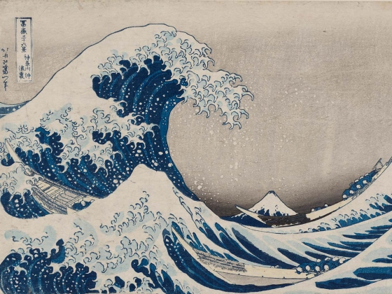 "Katsushika Hokusai, ""Under the Wave off Kanagawa (Kanagawa-oki nami-ura), also known  as the Great Wave, from the series Thirty-six Views of Mount Fuji  (Fugaku sanjûrokkei),"" about 1830–31"