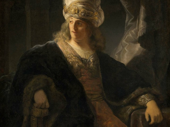 Follower of Ferdinand Bol, Young Man in Oriental Costume