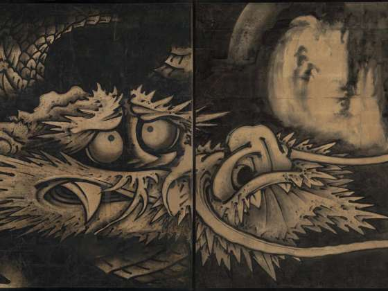Shohaku's large painting, Dragon and Clouds