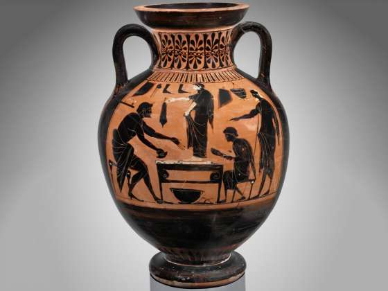 Sandalmaker And Blacksmithon A Greek Vase Museum Of Fine Arts