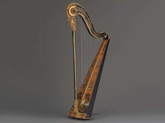 Pedal harp by Godefroi Holtzman, about 1785