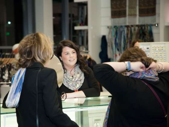 Visitors shopping in for jewelry in store