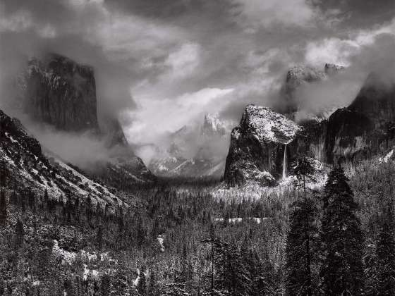 Ansel Adams' photograph, Clearing Winter Storm, Yosemite National Park