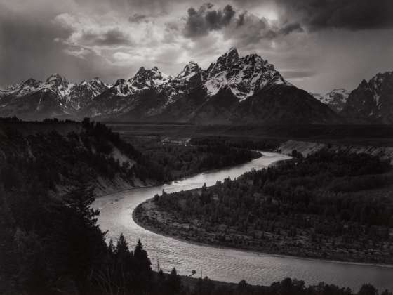 Ansel Adams's photograph, The Tetons and Snake River, Grand Teton National Park, Wyoming