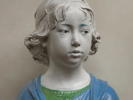 Andrea della Robbia, Bust of a Young Boy, about 1475