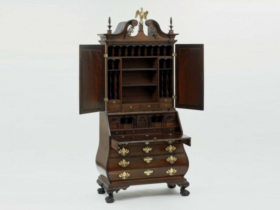 George Bright, Desk and bookcase, about 1770–85