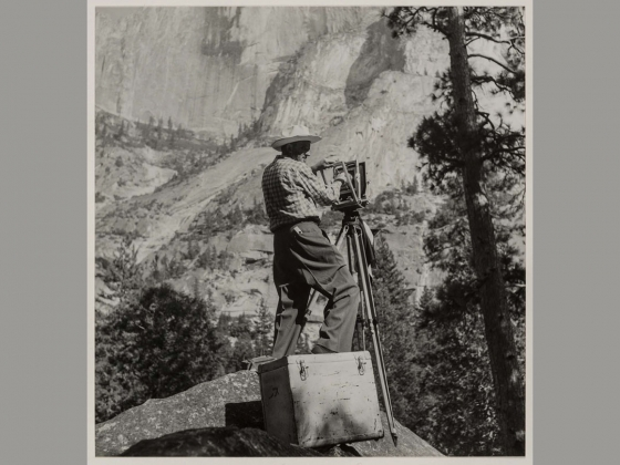 Imogen Cunningham, Ansel Adams, Yosemite, 1953