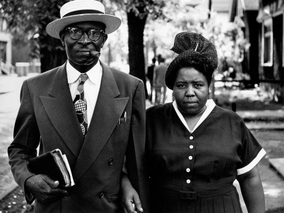 Signature image for Gordon Parks exhibition, husband and wife