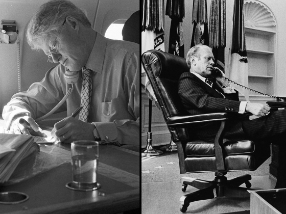 President William Clinton and President Gerald R. Ford