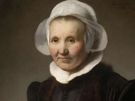 Detail of Rembrandt's painting, Portrait of Aeltje Uylenburgh
