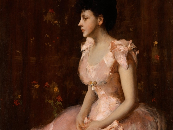 William Merritt Chase, Portrait of a Lady in Pink, about 1888-1889