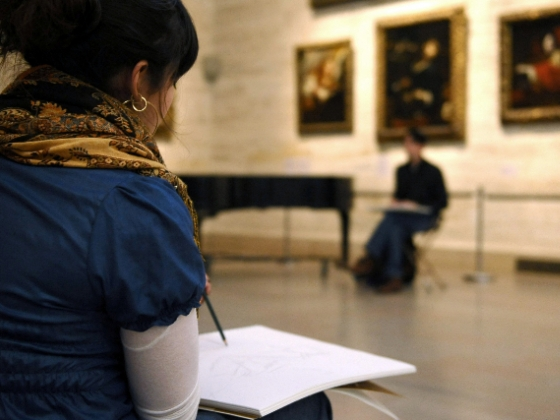 Teen draws in Art of Europe Gallery