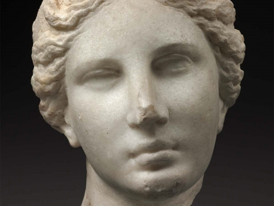 """Head of Aphrodite (""""The Bartlett Head"""" ), about 330–300 B.C."""