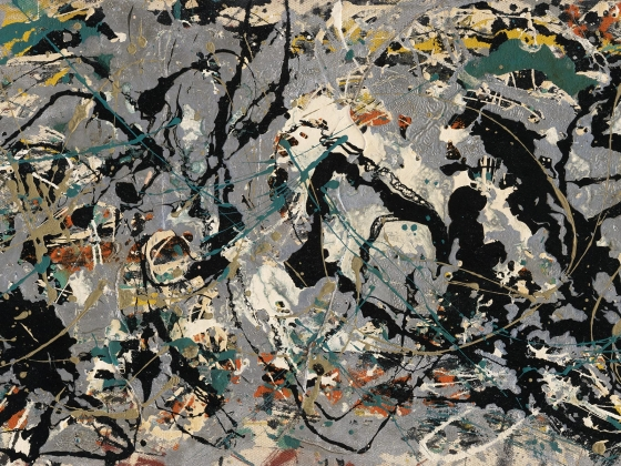 Detail of Jackson Pollock's painting, Number 10, 1949