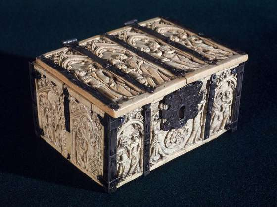 Unidentified artist, Marriage casket, English, Medieval (Gothic,) 14th century