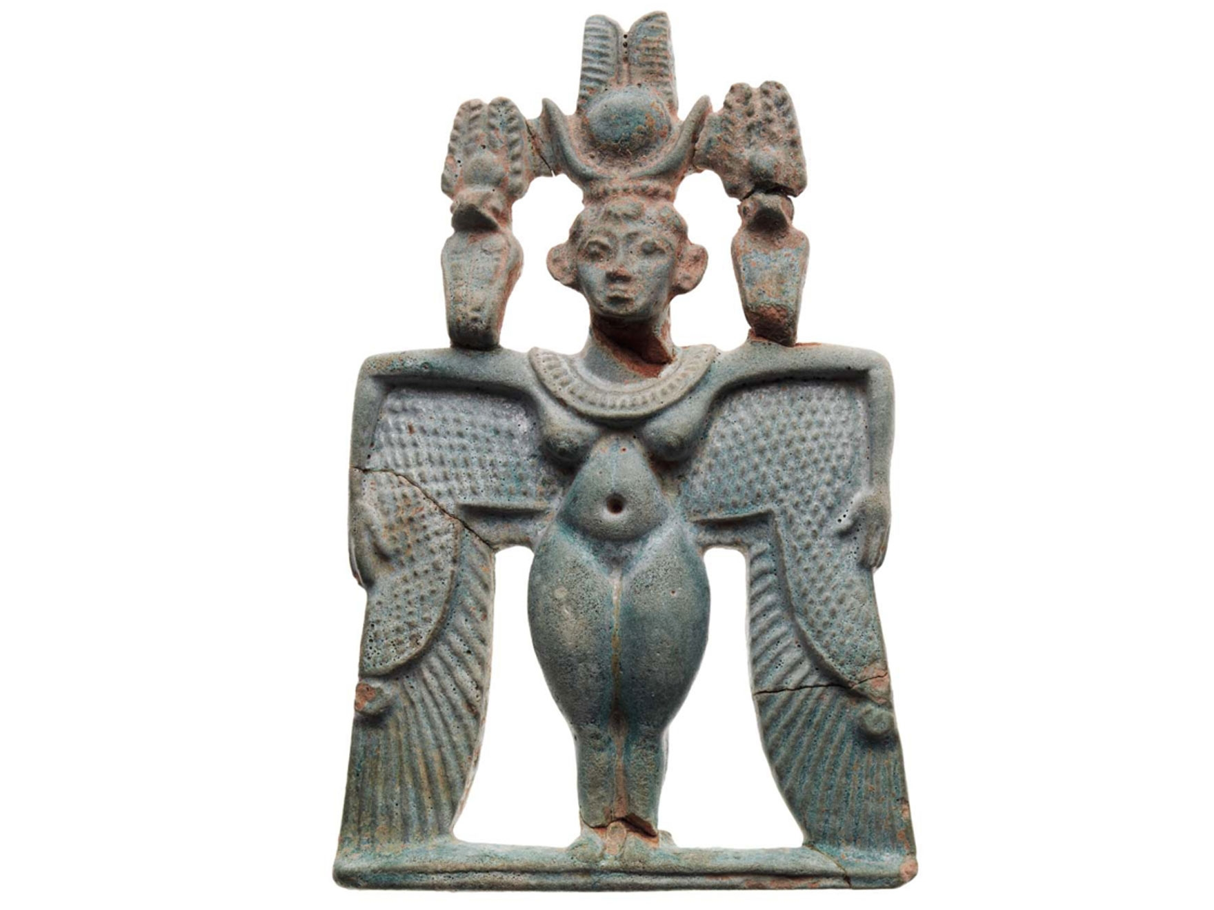 Nubian period pectoral representing a winged goddess