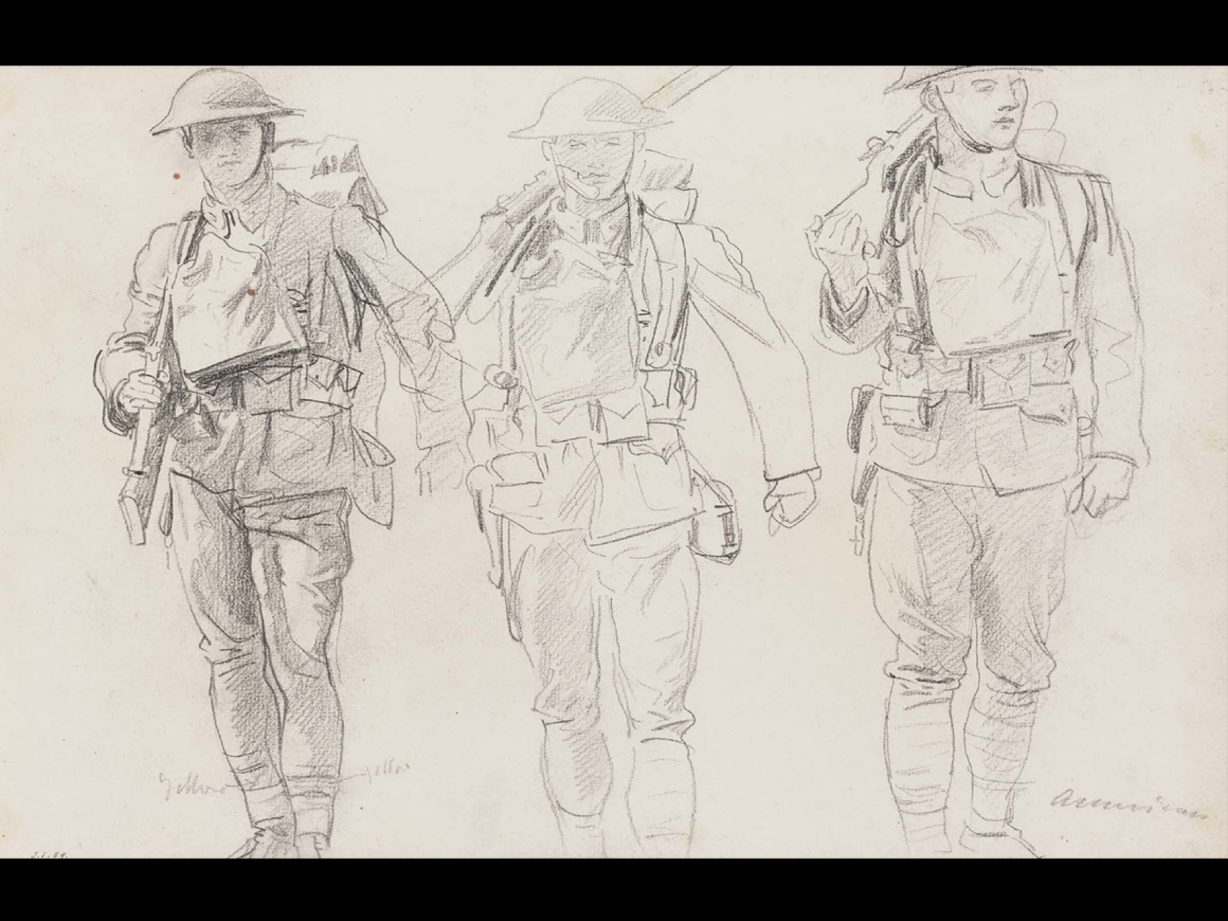 John Singer Sargent, Sketch of Three Soldiers