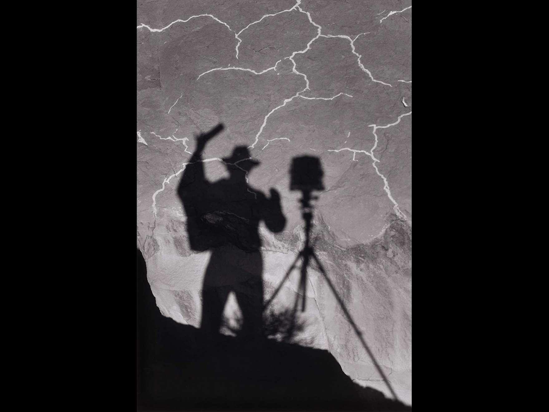 Ansel Adams' photograph, Self-Portrait, Monument Valley, Utah