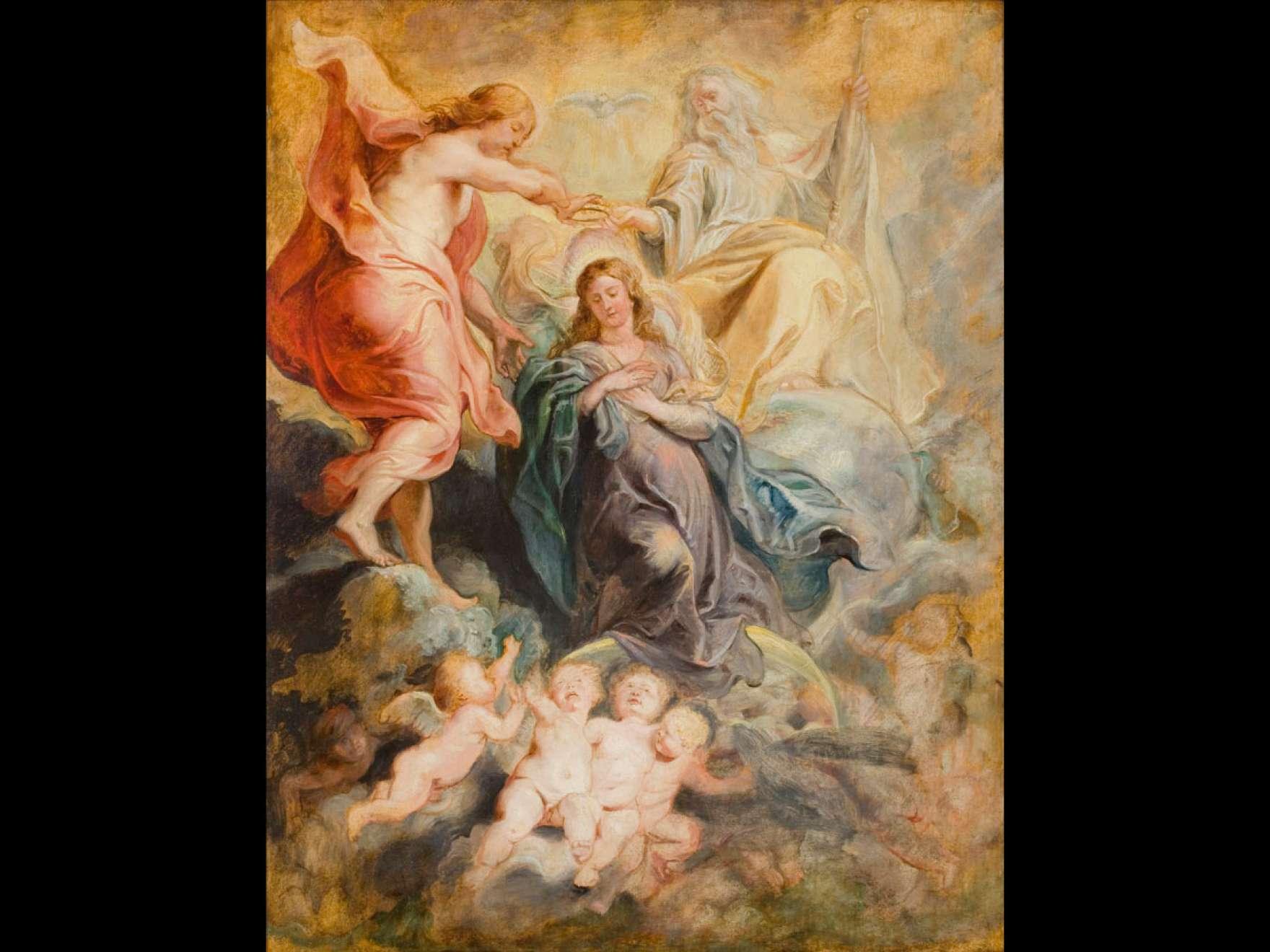 Peter Paul Rubens' painting, Coronation of the Virgin