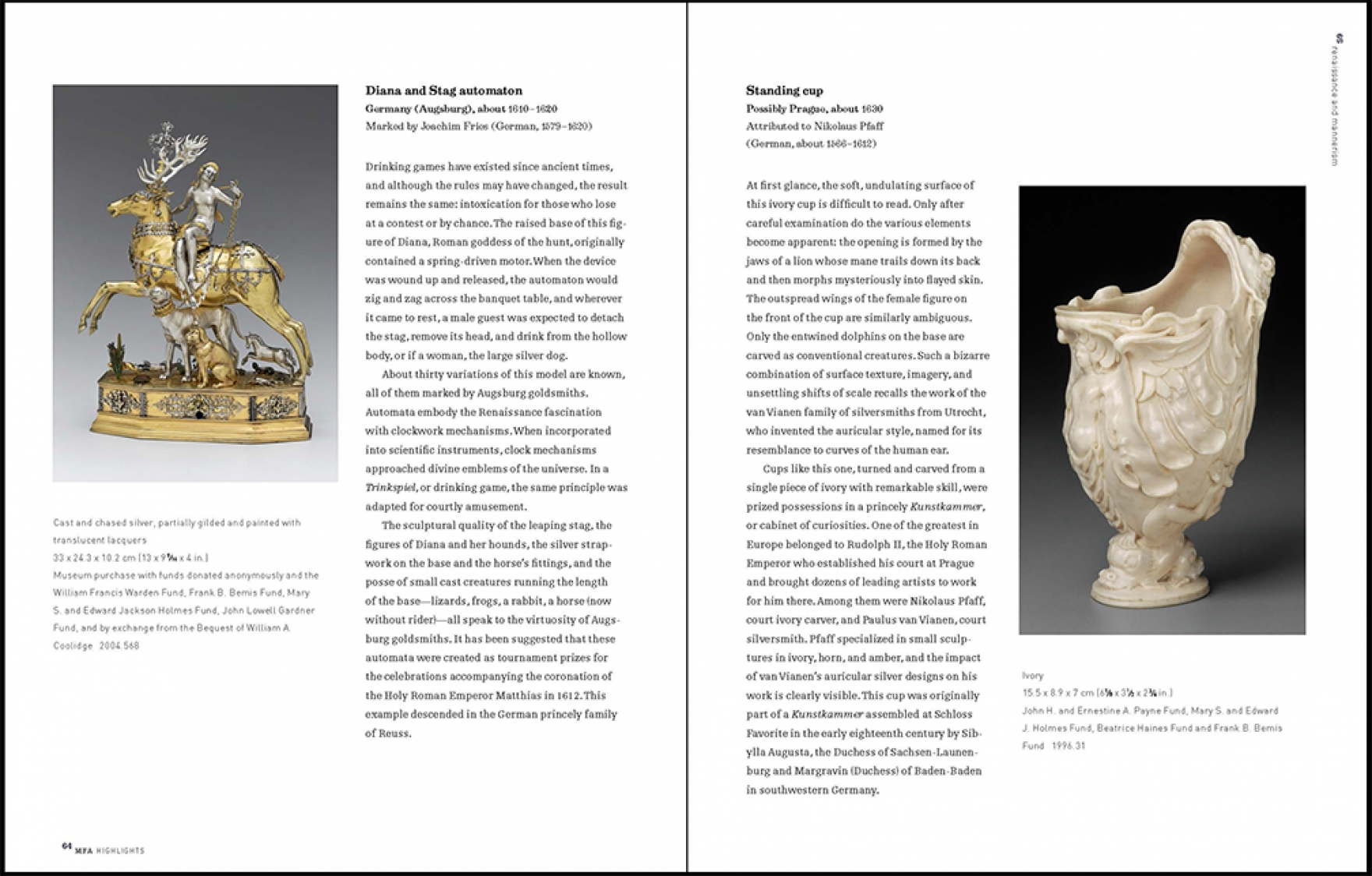 European Decorative Arts sample spread 1