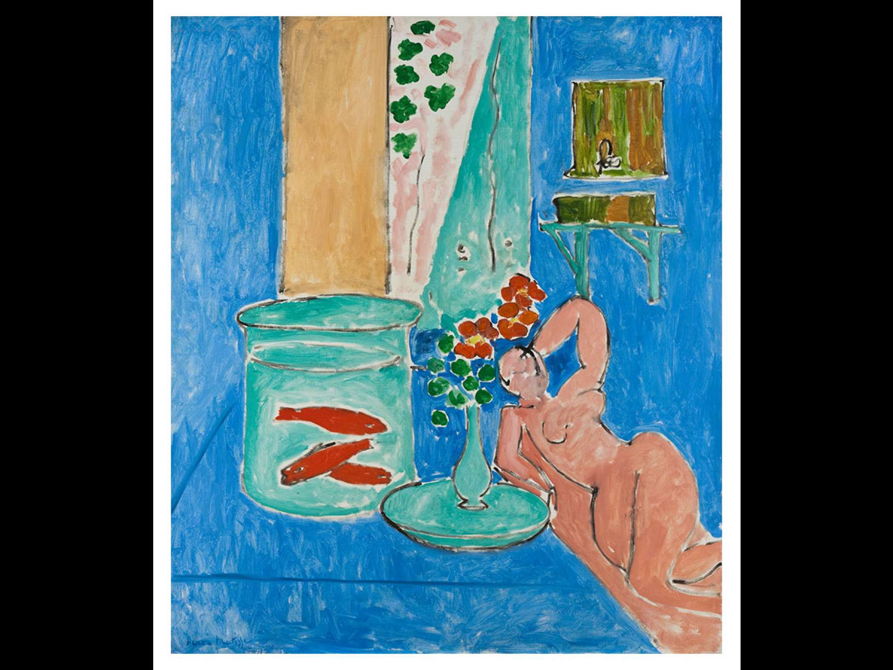 Henri Matisse's painting, Goldfish and Sculpture, 1912