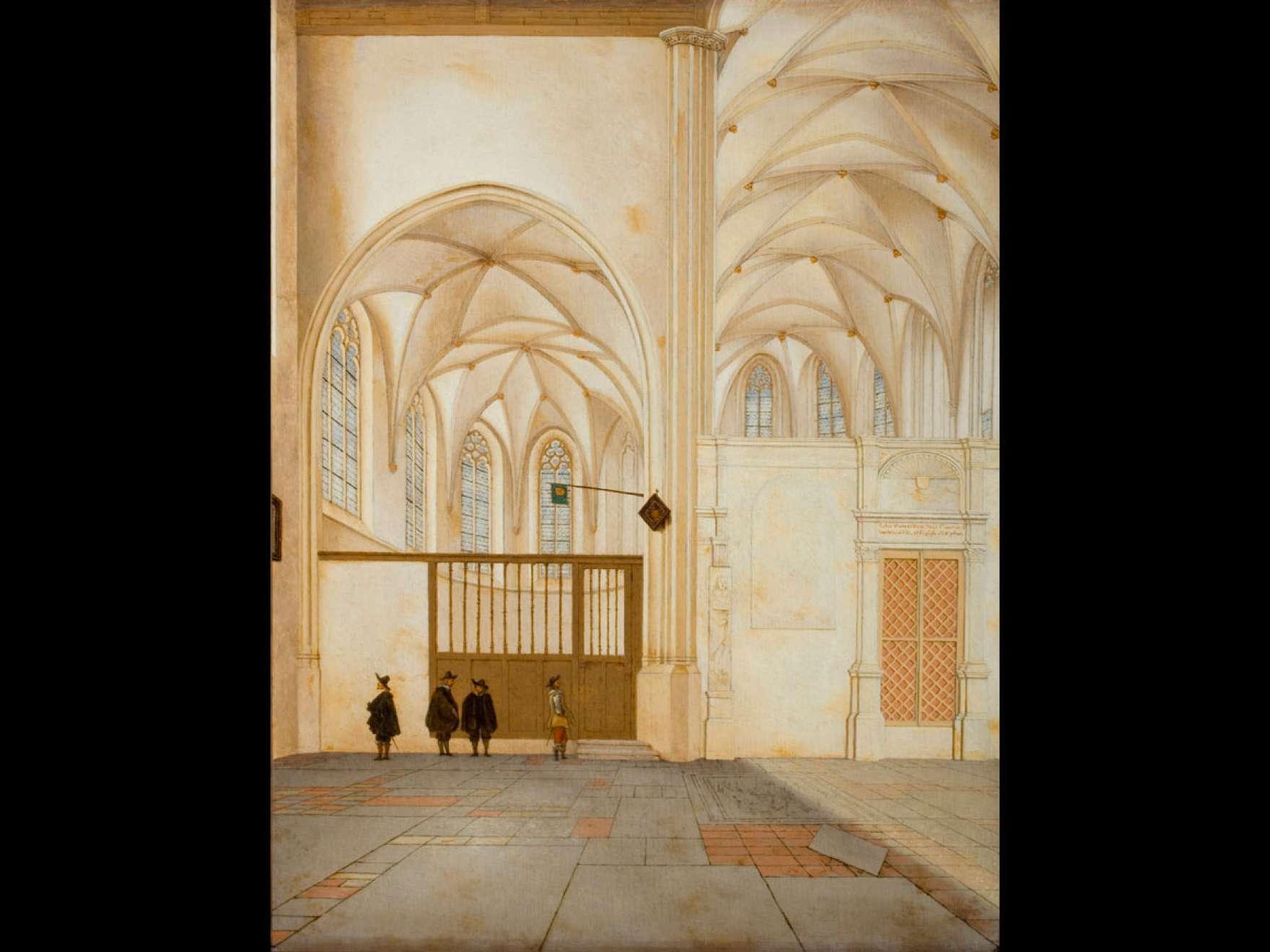 Pieter Jansz. Saenredam's painting, The North Transept and Choir Chapel of Sint Janskerk, Utrecht