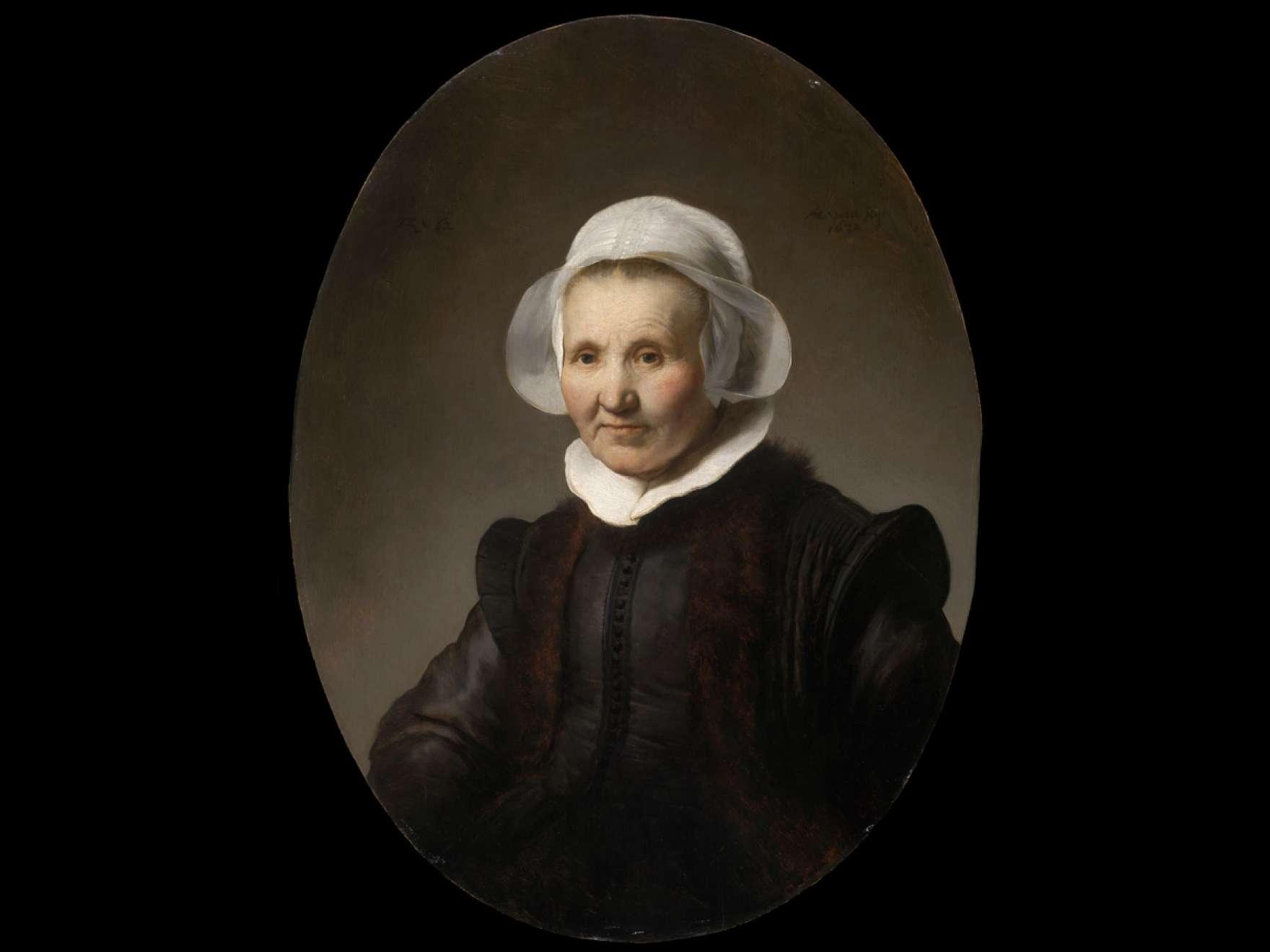 Rembrandt Harmensz. van Rijn's painting, Portrait of Aeltje Uylenburgh
