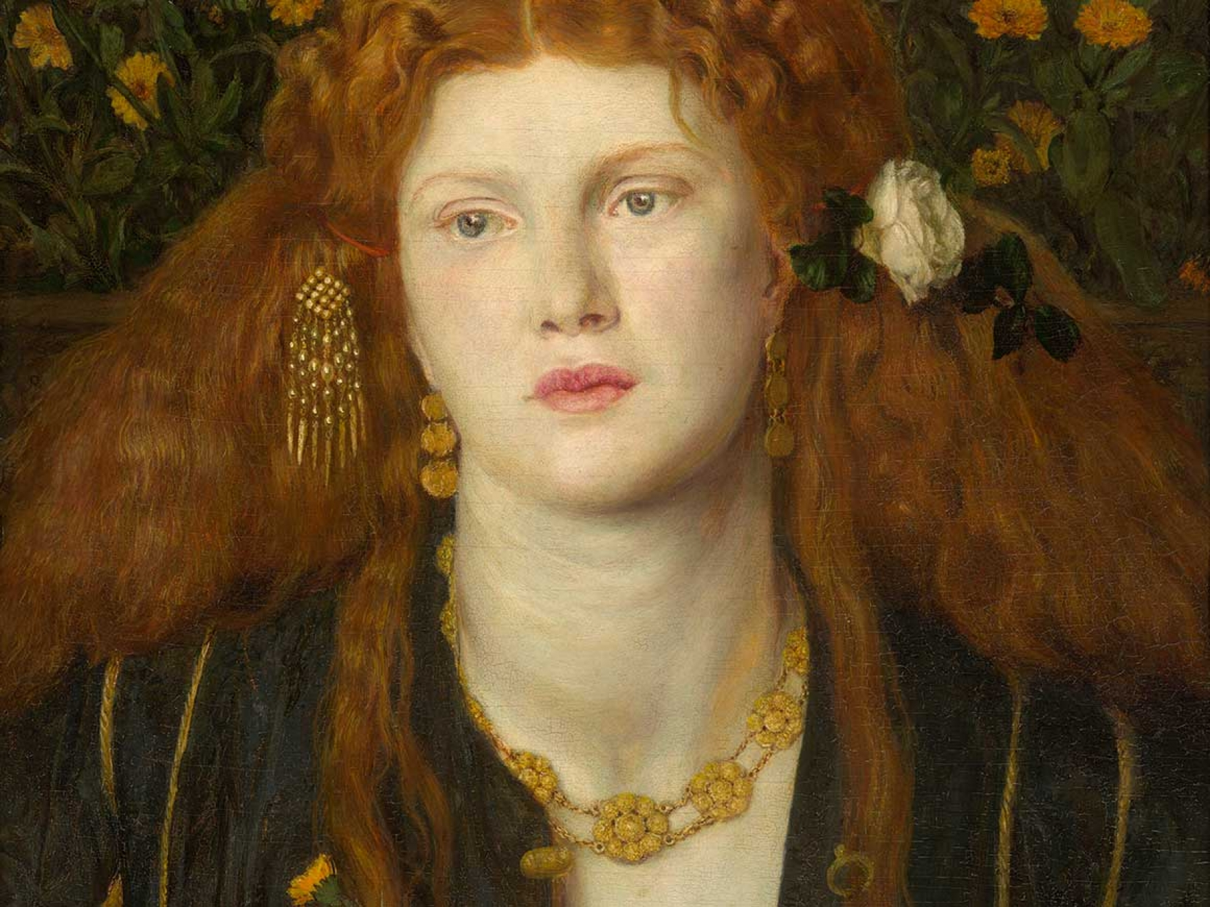 Dante Gabriel Rossetti's painting, Bocca Baciata (Lips That Have Been Kissed)