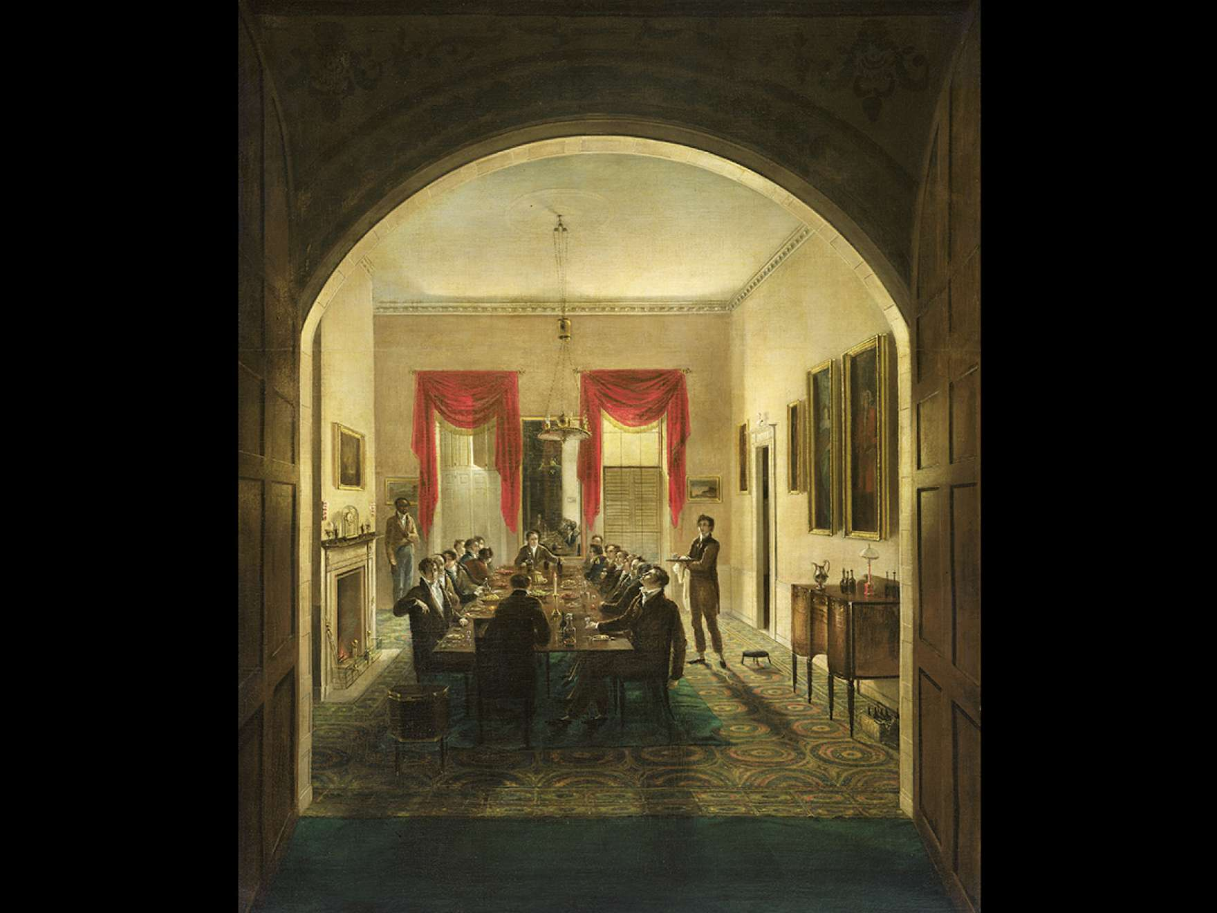 Henry Sargent's painting, The Dinner Party, about 1821