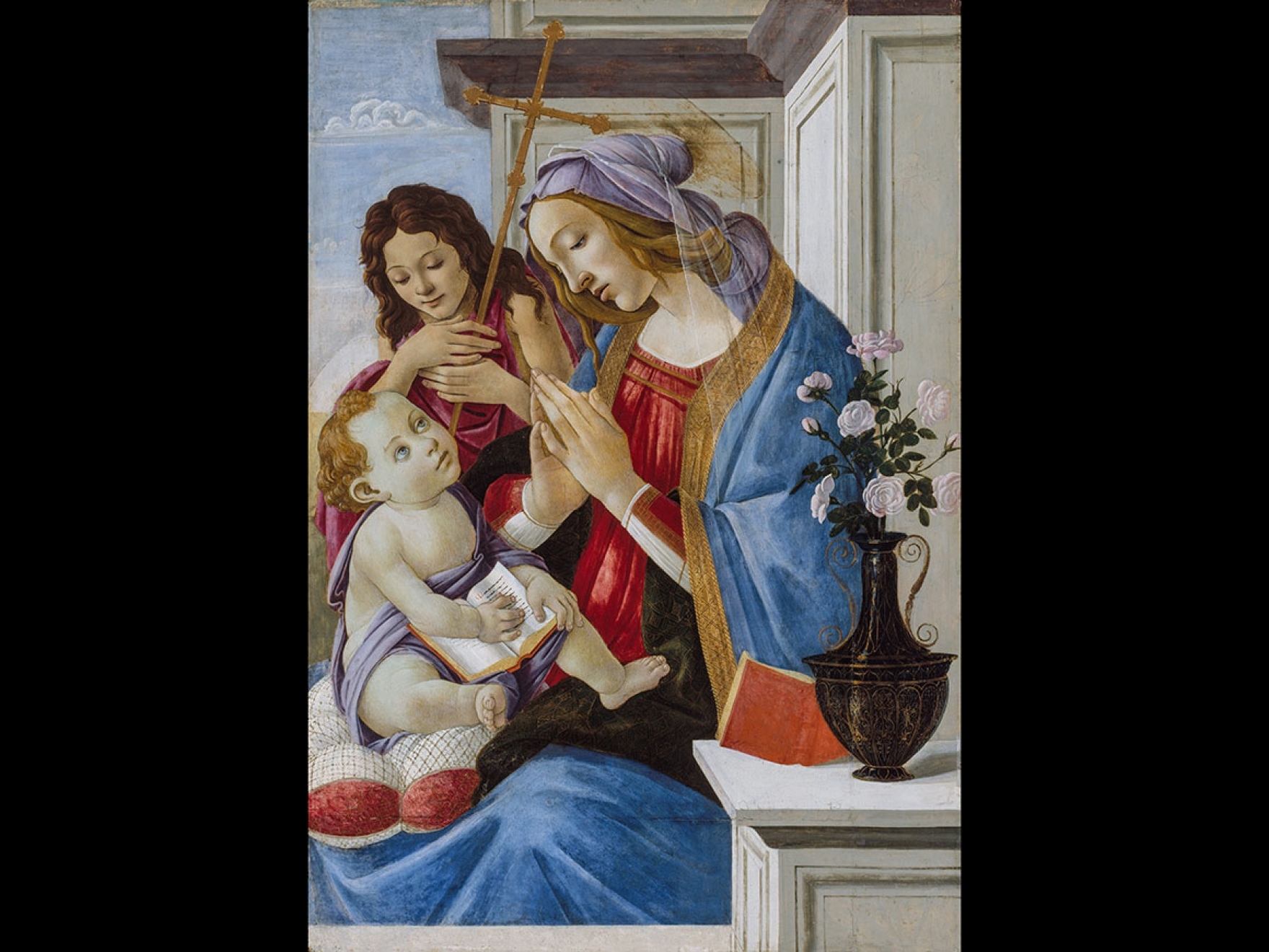 Sandro Botticelli's painting, Virgin and Child with Saint John the Baptist, about 1500