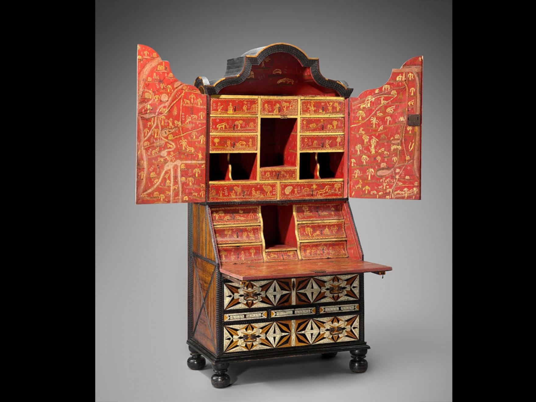 Desk and bookcase, Puebla, Mexico, mid 18th century