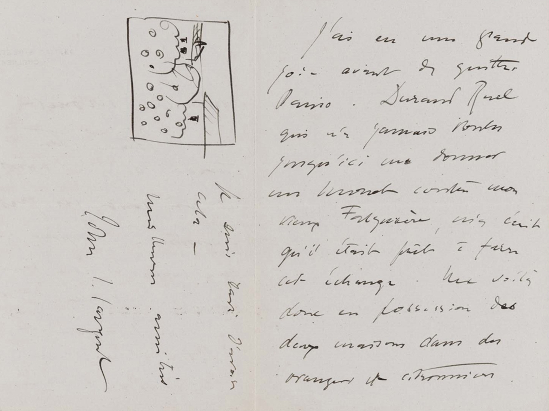John Singer Sargent, John Singer Sargent to Claude Monet, September 1 [1891], from 33 Tite St., London, 1891