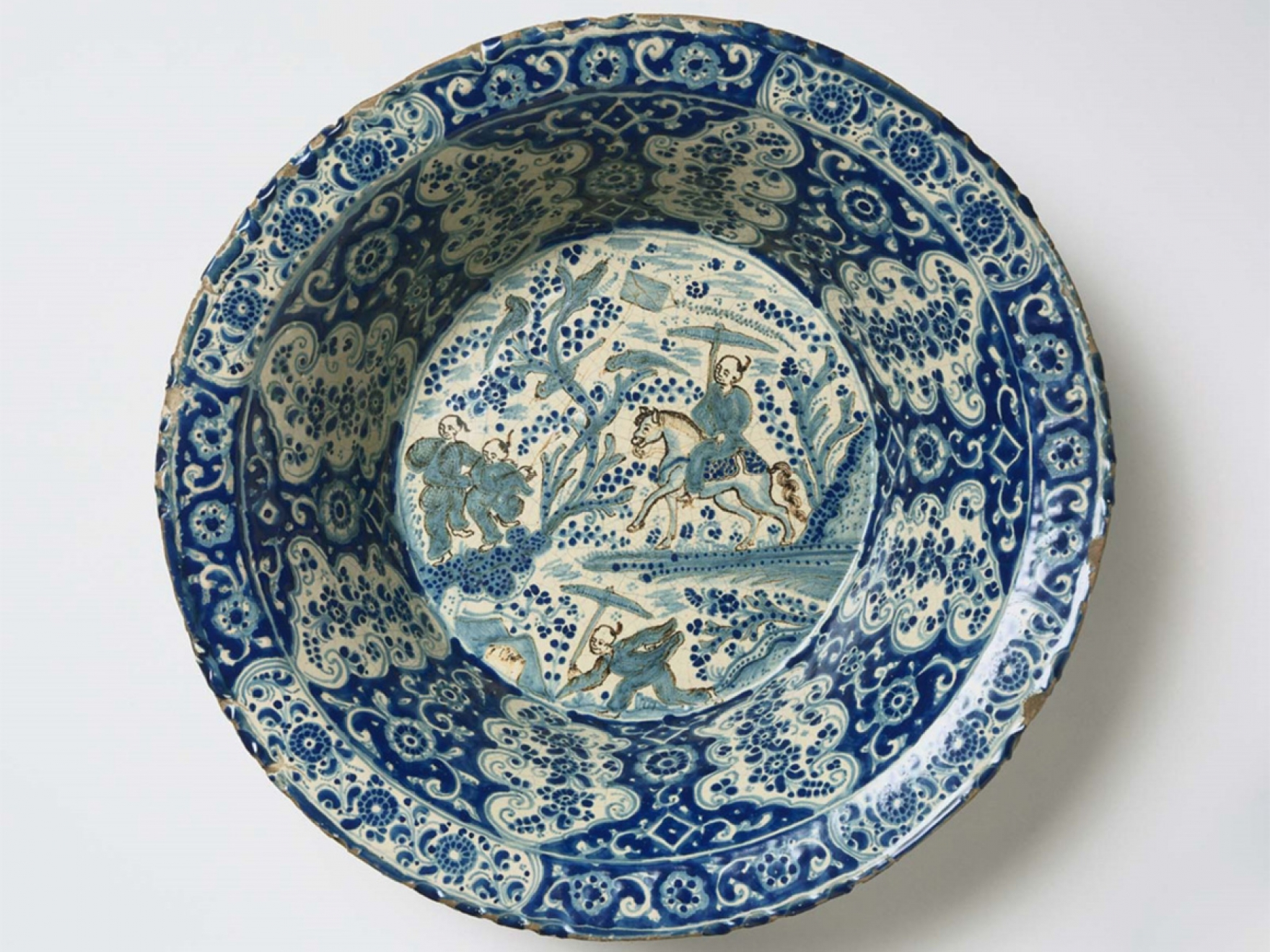 Diego Salvador Carreto, Basin with Landscape in Chinese Style, late 17th century