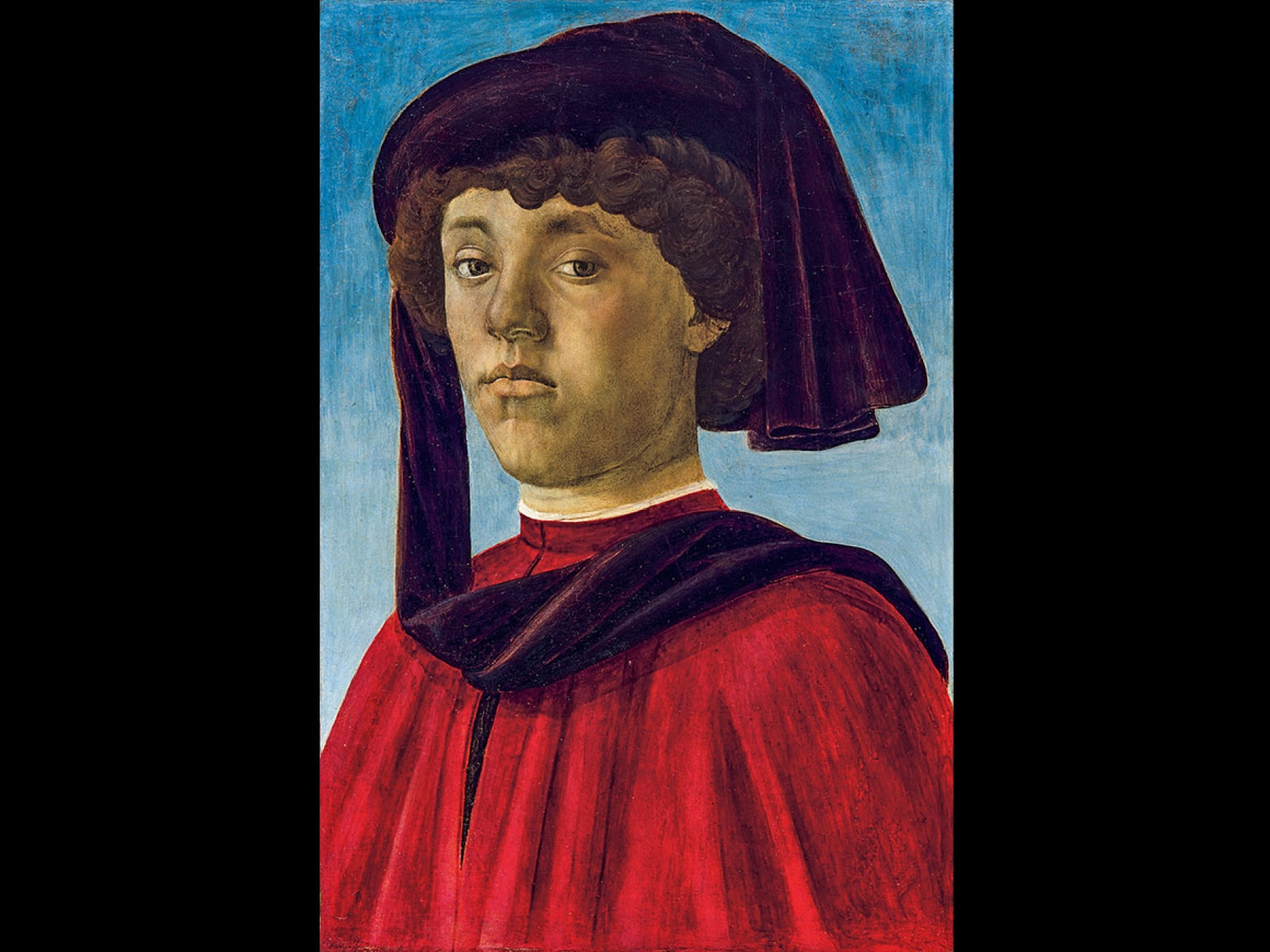 Sandro Botticelli's painting, Portrait of a Youth, 1470s