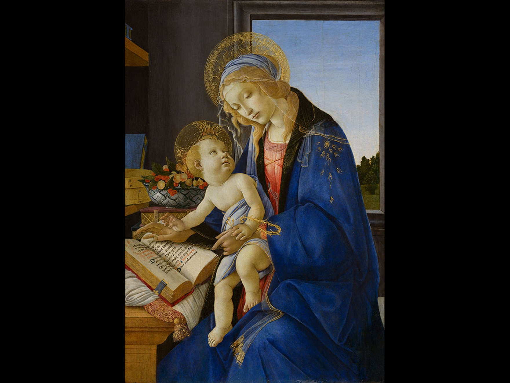 Sandro Botticelli's painting, Virgin and Child (Madonna of the Book), about 1478–80