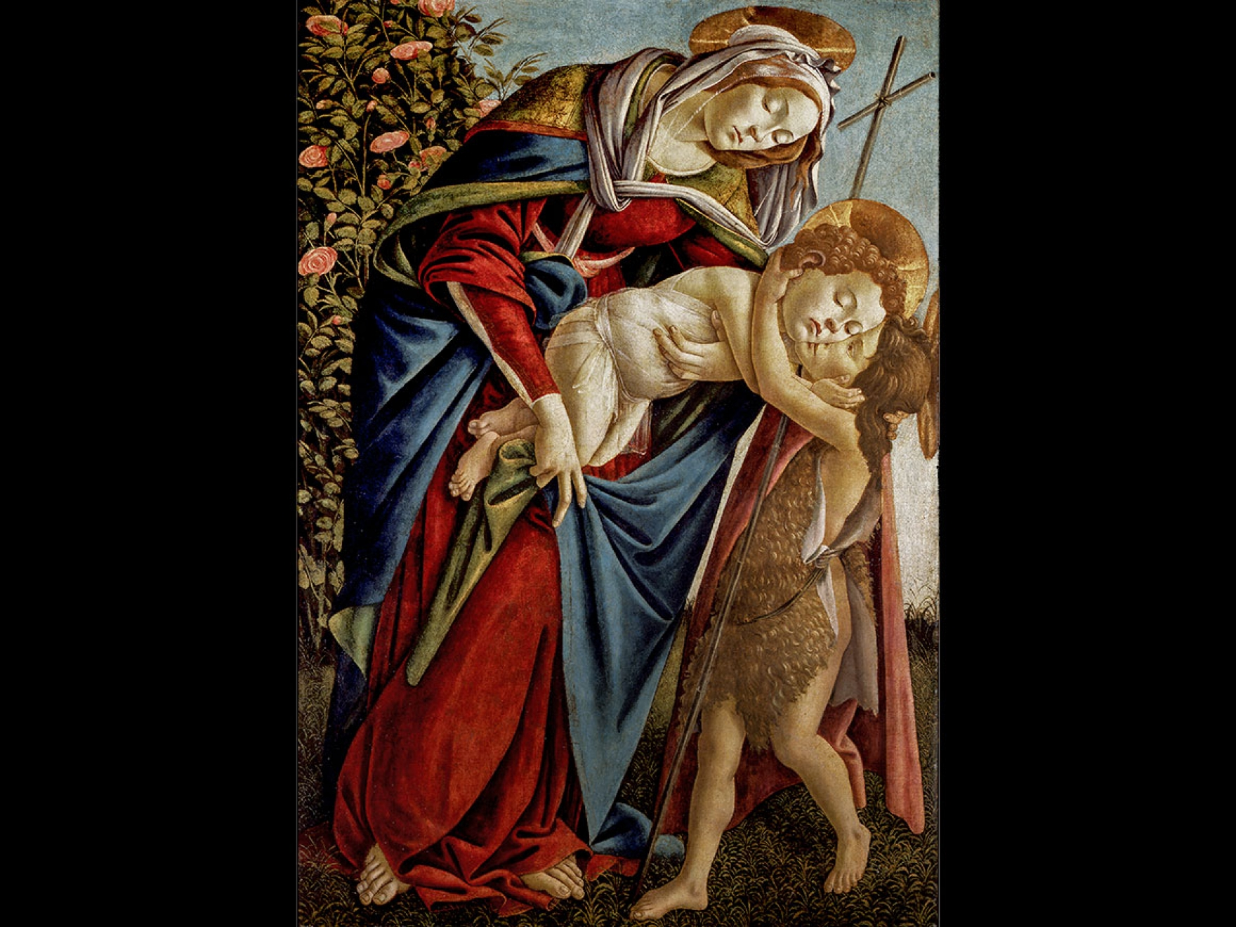 Sandro Botticelli's painting, Virgin and Child with Young Saint John, the Baptist, about 1505