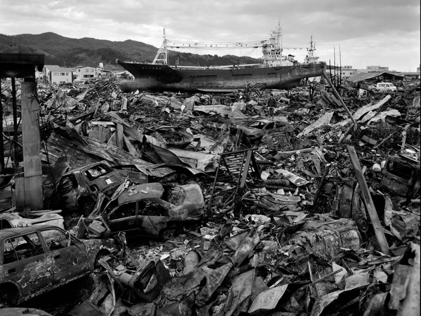 Kōzō Miyoshi, 2011:04:03, Nishiminato, Kesennuma, Miyagi Prefecture from North East Earthquake Disaster Tsunami 2011 Portfolio, 2011